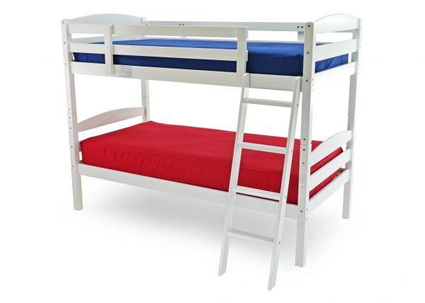 Moderna Single Wood Bunk Bed Frame - White or Antique Pine