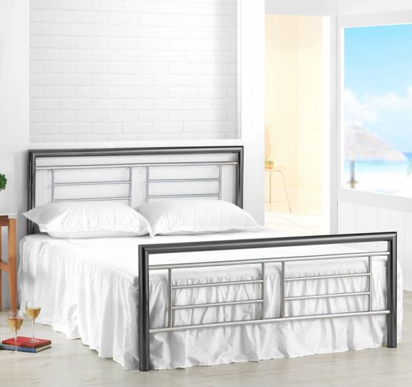 Birlea Montana Chrome & Nickel Metal Bed Frame