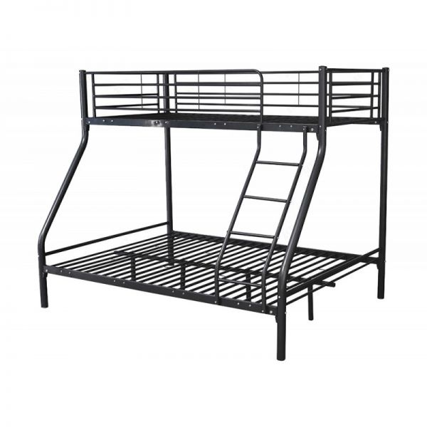 Montreal Metal Triple Bunk Bed Frame - Black or White
