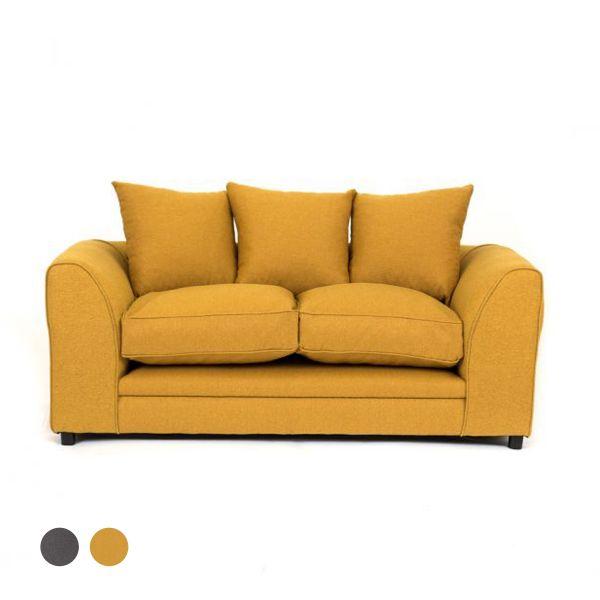 Dorota II Fabric 2 Seater Sofa - Mustard