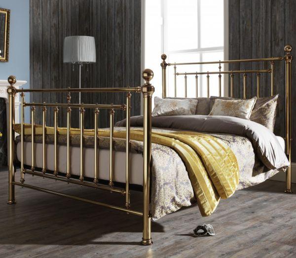 Solomon Metal Bed - King or Super King - Brass or Nickel