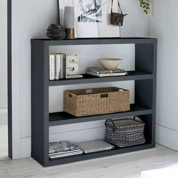 LPD Puro Gloss Display Bookcase - Cream, Stone, Charcoal or White