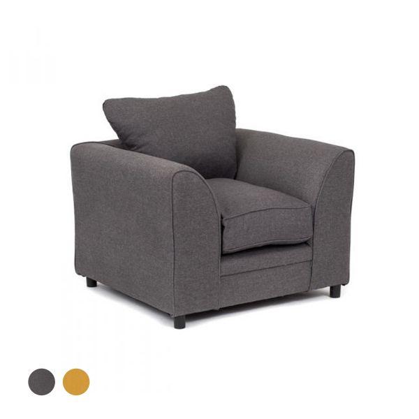 Dorota II Fabric Armchair - Dark Grey