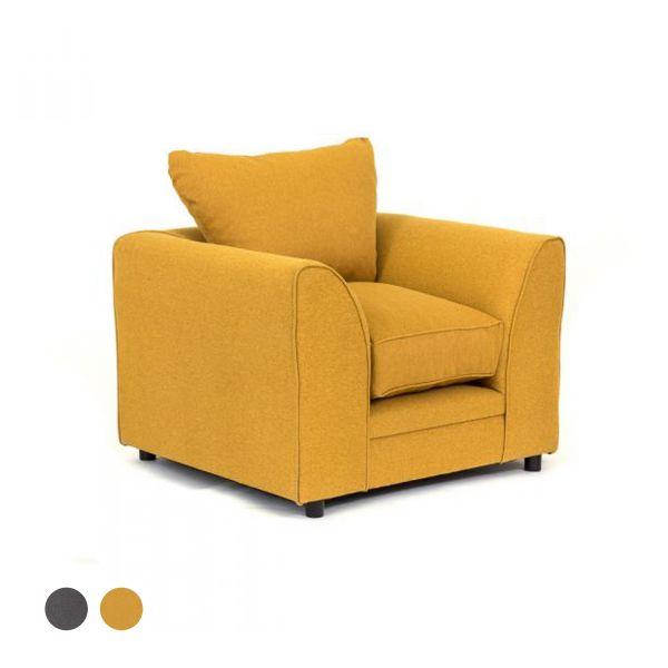 Dorota II Fabric Armchair - Mustard