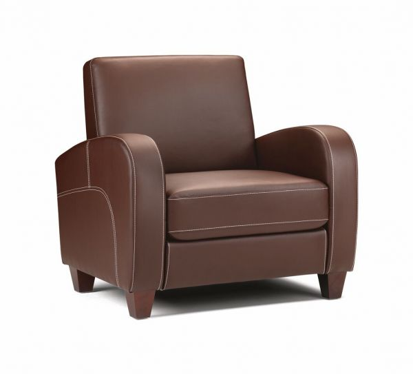 Julian Bowen Vivo Chestnut Faux Leather Armchair