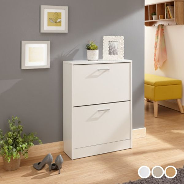 Stirling Two Tier Shoe Cabinet - 3 Colours
