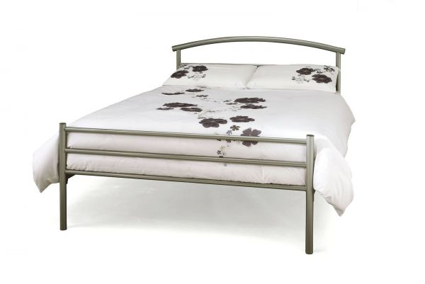 Brennington Silver Metal Bed - 5 Sizes