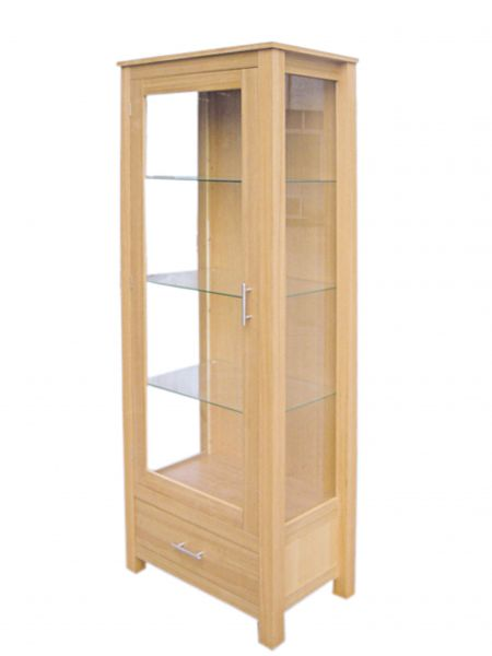 LPD Oakridge Glass Display Unit - Oak