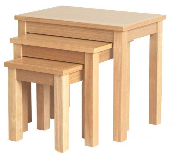 LPD Oakridge 3PC Nest of Tables - Oak