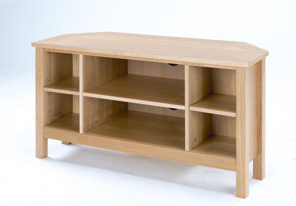 LPD Oakridge Corner TV Stand Unit - Oak