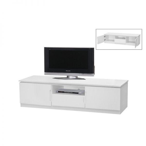 Orb 2-Door Widescreen TV Stand - White or Black