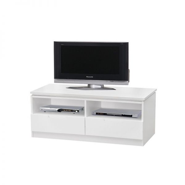 Orb 2-Drawer Small TV Stand - White or Black