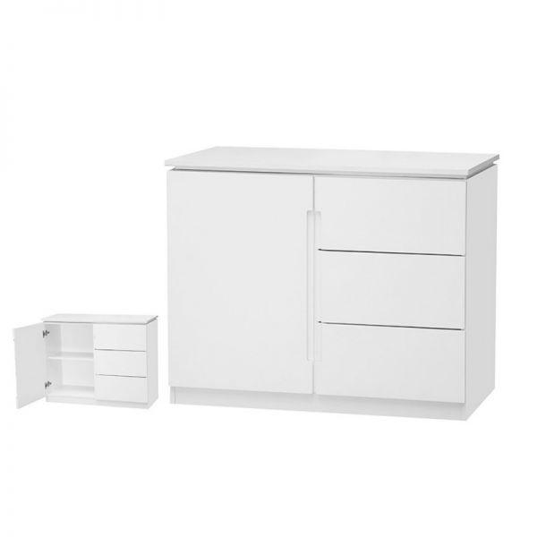 Orb 1-Door 3-Drawer Sideboard - White or Black