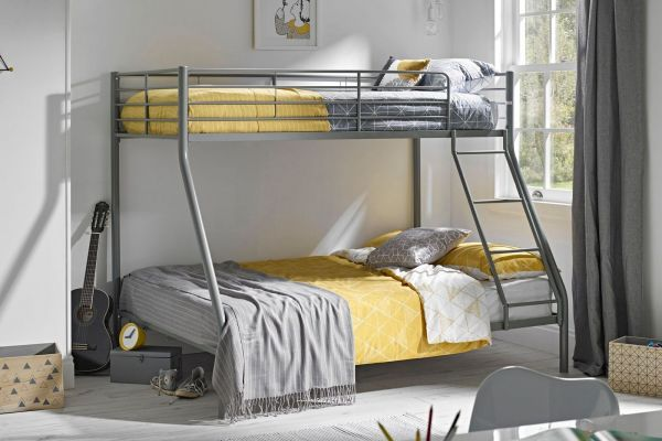 LPD Primo Silver Metal Triple Sleeper Bunk Bed