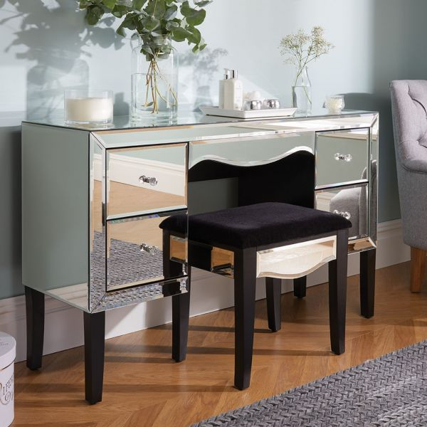 Birlea Palermo Mirrored 4 Drawer Dressing Table