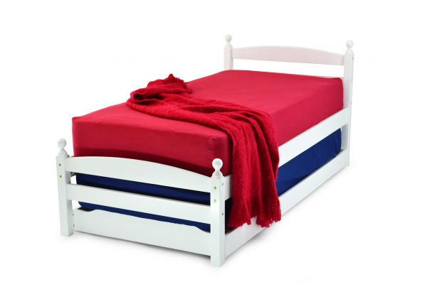 Palermo White Wood Single Guest Bed Frame