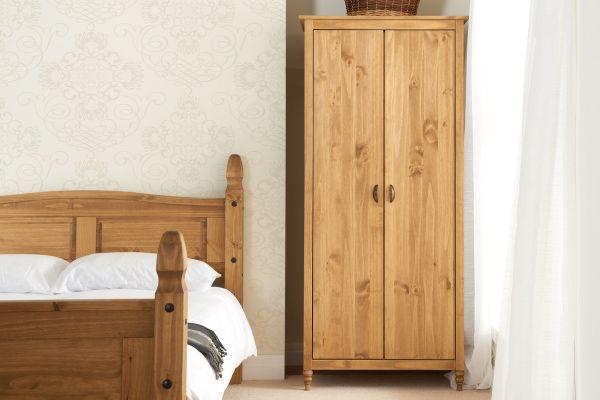 Birlea Pembroke 2-Door Wardrobe - Pine