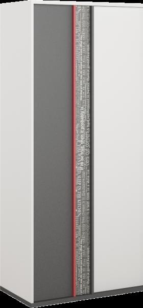 Palayo 2-Door Kid's Wardrobe 90cm - White & Grey