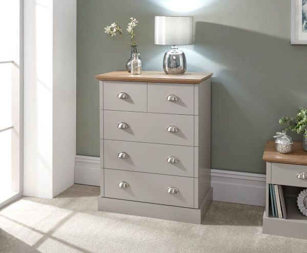 Kendal 2+3 Drawer Storage Chest - Grey