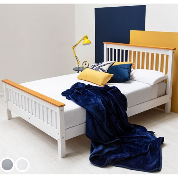 Pickmere Solid Wooden Pine Bed Frame in 3 Sizes - 2 Colours