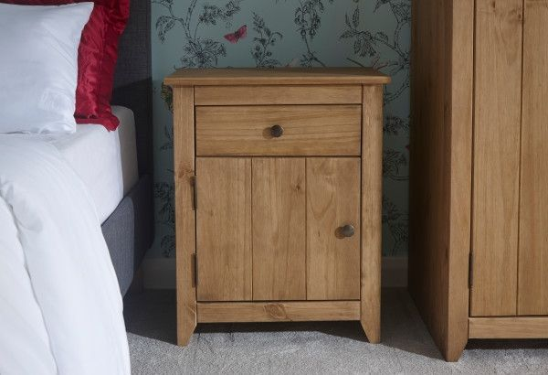 Aztec 1 Drawer 1 Door Bedside Cabinet