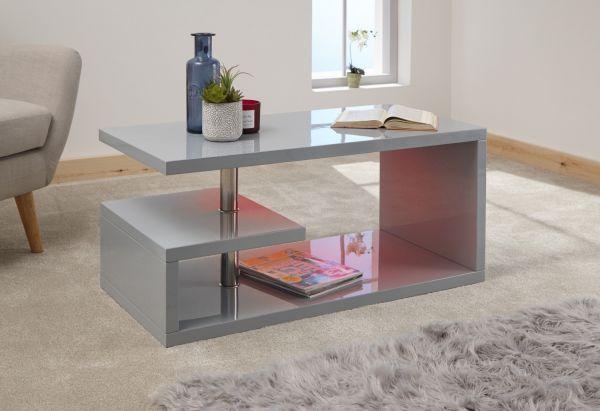 Polar High Gloss LED Coffee Table - White or Grey