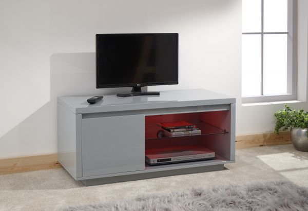 Polar High Gloss LED TV Stand Unit - White or Grey