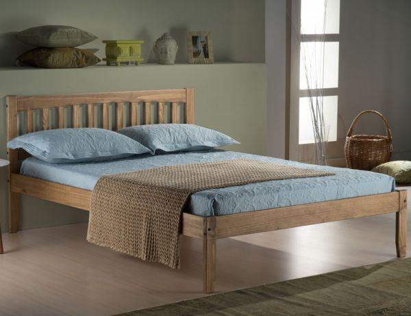 Birlea Porto Waxed Pine Wood Bed Frame
