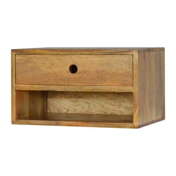 Solid Wood Wall Mounted Bedside Table