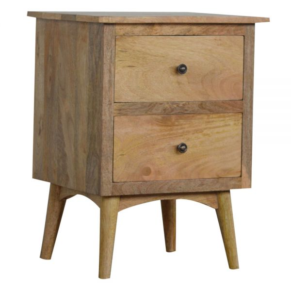 Nordic Style Bedside Table with 2 Drawers