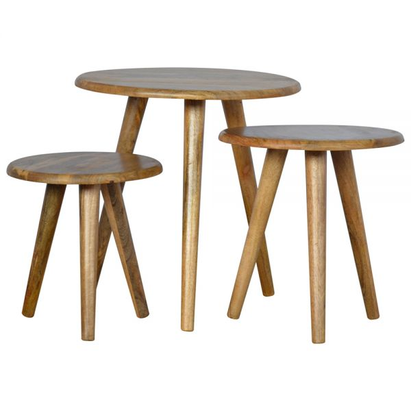 Set of 3 Nordic Style Stool