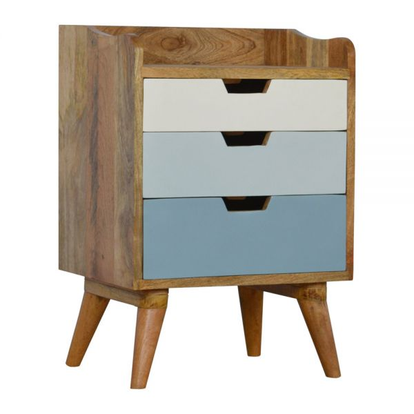 Blue and White Gradient Bedside Table