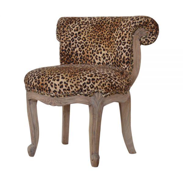 Leopard Print Studded Chair