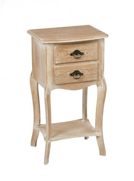 LPD Provence 2 Drawer Bedside Table - Oak