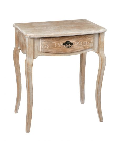 LPD Provence 1 Drawer Lamp Table - Oak