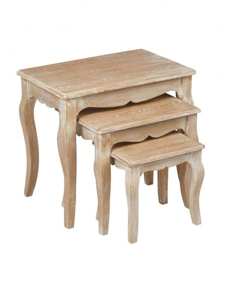 LPD Provence Nest of 3 Tables - Oak