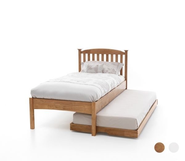 Eleanor Low Footend Wood Guest Bed & Trundle - Oak or White