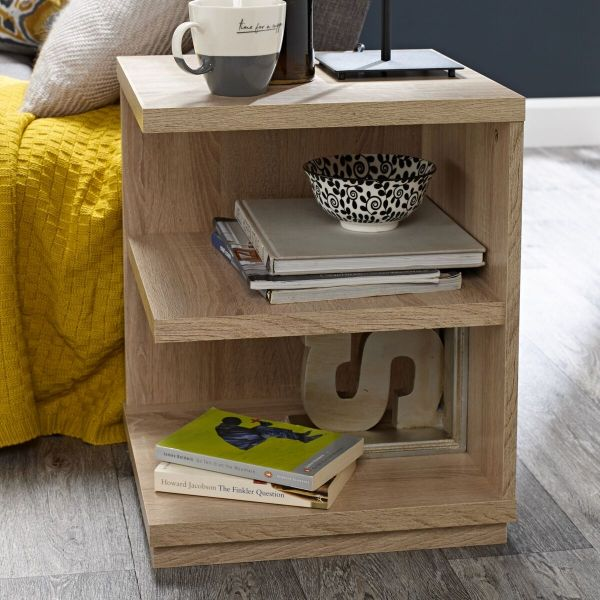 LPD Oslo Lamp Table - Washed Oak