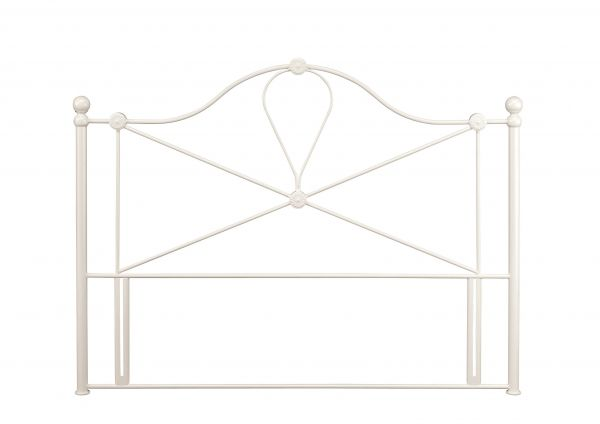 Lyon Classic Ivory Metal Headboard - 4 Sizes