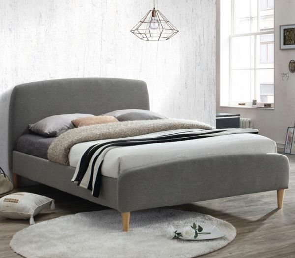 Birlea Quebec Grey Fabric Bed Frame
