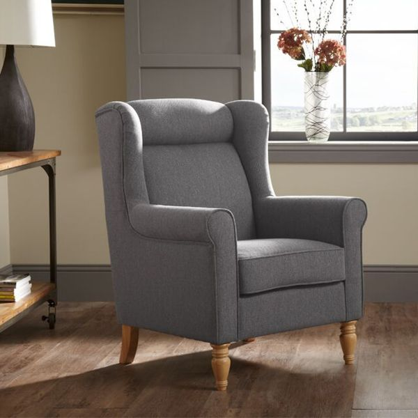 Glasgow Fabric Occassional Armchair - Grey, Latte or Mocha