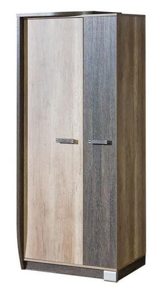 Rozel 2-Door Wardrobe 80cm - Canyon Oak & Arushka Oak