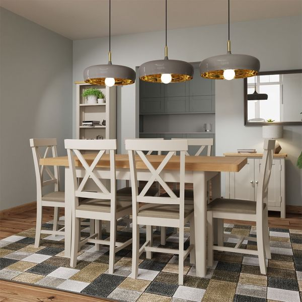 Ether 1.2M Extending Dining Table - Dove Grey