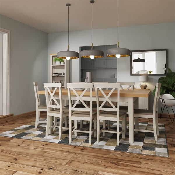 Ether 1.6M Extending Dining Table - Dove Grey