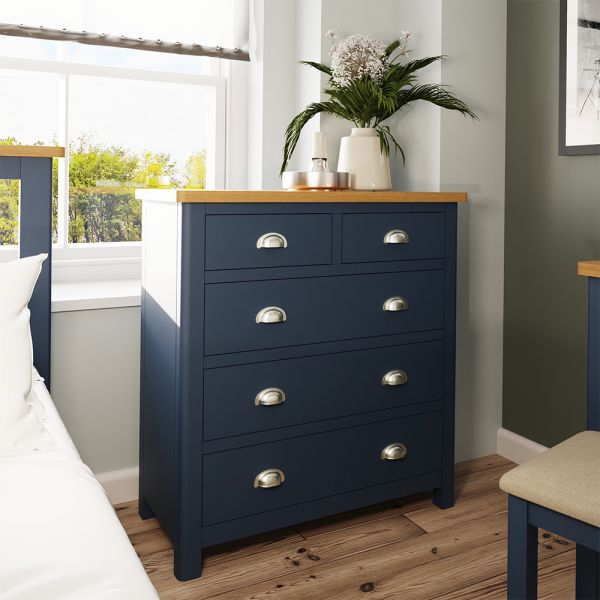 Alcia 2 Over 3 Chest Of Drawers - Blue