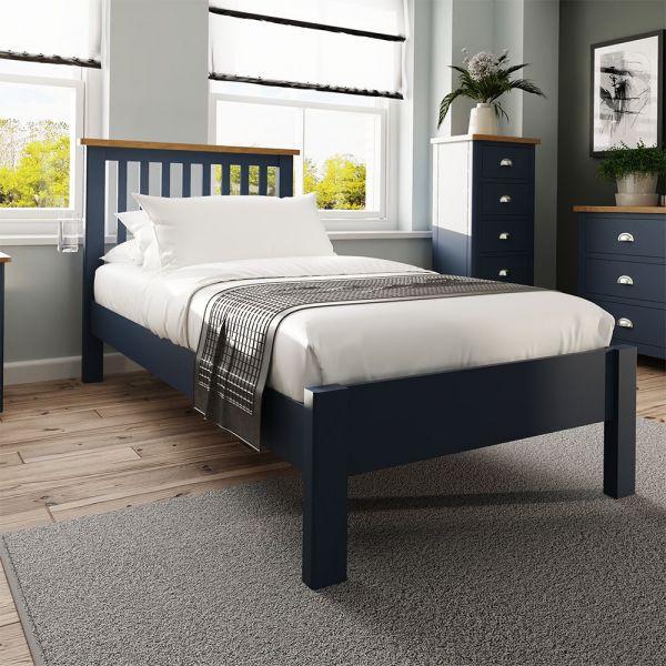 Alcia 3FT Single Bed Frame - Blue