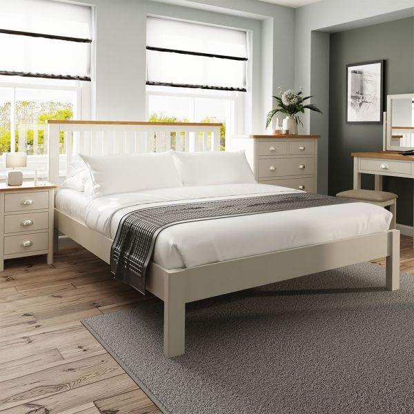 Palit 5FT Kingsize Bed Frame - Dove Grey