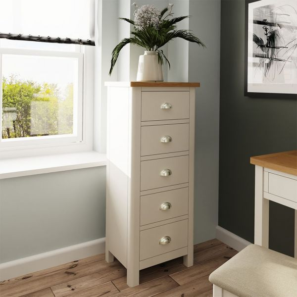 Palit 5 Drawer Narrow Chest Of Drawers - Dove Grey