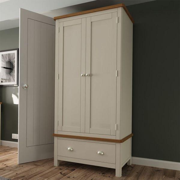 Palit 2 Door Double Wardrobe - Dove Grey