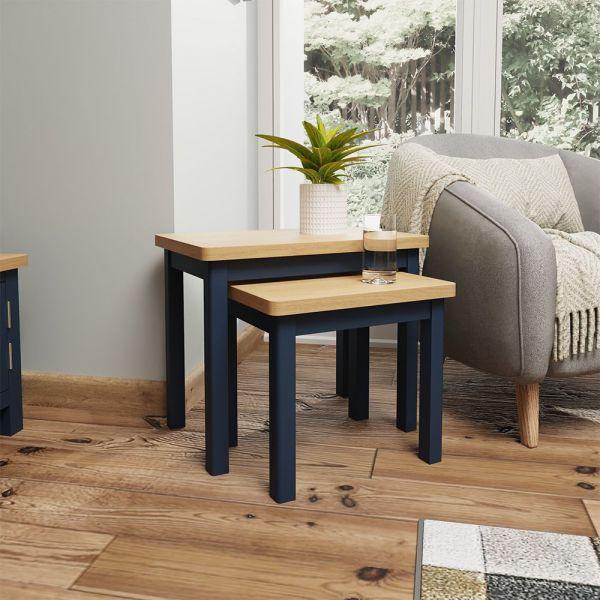 Astar Nest Of 2 Tables  - Blue